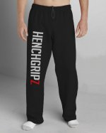 HENCHGRIPZ™ BLACK FLEECE JOGGING / MMA / GYM BOTTOMS