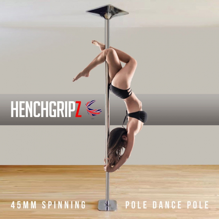 HENCHGRIPZ 45mm Spinning / Static Dance Fitness Pole - Click Image to Close
