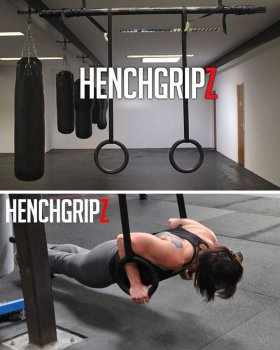 HENCHGRIPZ CROSSFIT / OLYMPIC / GYMNASTIC RINGS