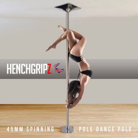 HENCHGRIPZ 45mm Spinning / Static Pole Dancing Fitness Pole
