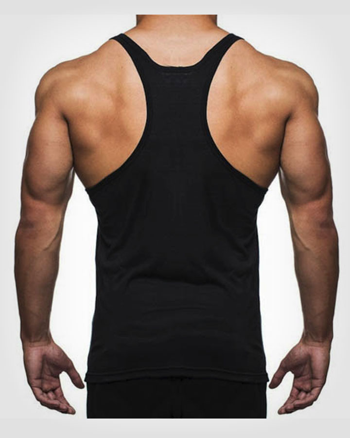 VICELIKE™ BLACK T-BACK MENS BODYBUILDING STRINGER VEST
